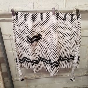 Vintage Handcrafted Brown White Poka Dot Apron